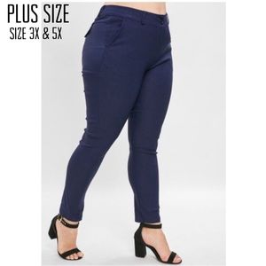 Pants - Plus Size High Waist Pants